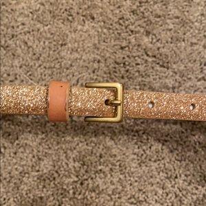Gap Gold Sparkle Belt